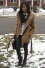 Zara-coat-h-m-blouse-rampage-leggings-jessica-simpson-boots-guess-bag