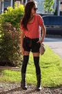 Forever21-shirt-urban-behaviour-shorts-forever-21-boots-rue-21-socks-h-m