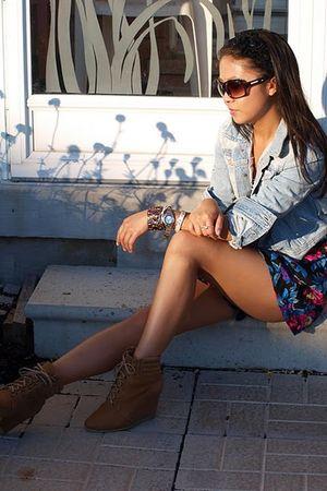H&M jacket - suzy skirt - Zara boots