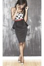 Black-peplum-river-island-skirt-print-motel-rocks-bodysuit