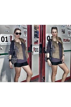 H&M sunglasses - Tally Weijl shorts - Matthew Williamson top - H&M vest