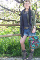 smash bag - Zara jacket - H&M shorts - Bijou Brigitte necklace - Topshop belt