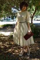 vintage dress - vintage belt - vintage purse - Cathy Jean shoes