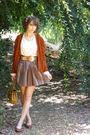 Vintage-cardigan-vintage-skirt-vintage-belt-vintage-top-vintage-shoes