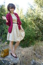 Vintage-dress-vintage-cardigan-vintage-shoes-vintage-purse-vintage-belt-