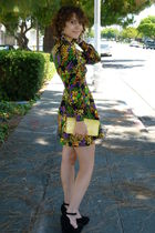 vintage dress - black asos shoes - coach purse