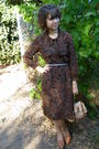 Vintage-dress-vintage-bag-h-m-belt-vintage-shoes