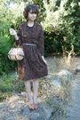 Vintage-dress-vintage-bag-h-m-belt-vintage-shoes