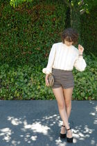 vintage top - Urban Outfitters shorts - black asos shoes - vintage purse
