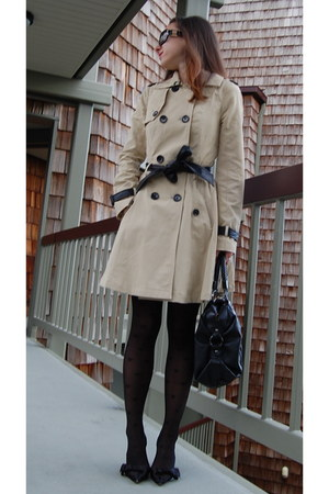 Bebe coat - Angelina tights - Marciano bag