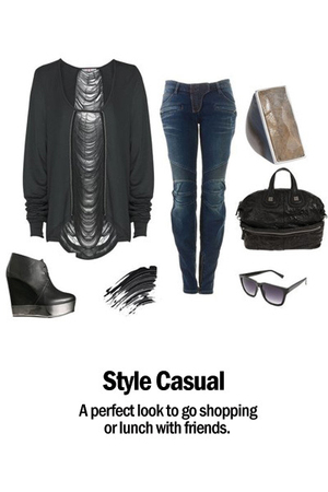 acne boots - sass &amp; bide top - Balmain jeans - Givenchy accessories - Barneys Ne