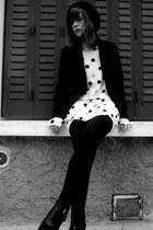 black sam edelman boots - H&M cardigan