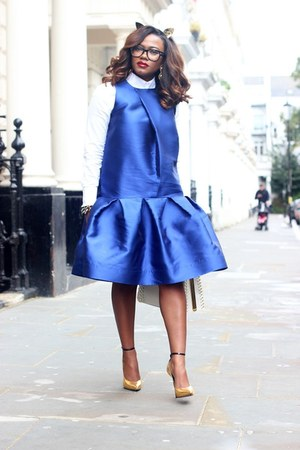 blue PAPER London dress