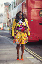 Mary Katrantzou dress - McQueen bag - Christian Louboutin heels