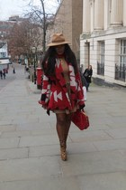 Zara dress - Christian Louboutin boots - Zara coat - Reiss hat