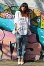 White-amaro-blazer-white-forever-21-shirt-dark-brown-tng-sunglasses