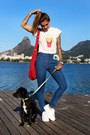Blue-high-waisted-forever-21-jeans-red-uncle-k-bag-white-walktrendy-t-shirt