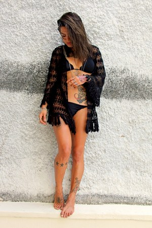 black c&a blouse - black Mariska swimwear