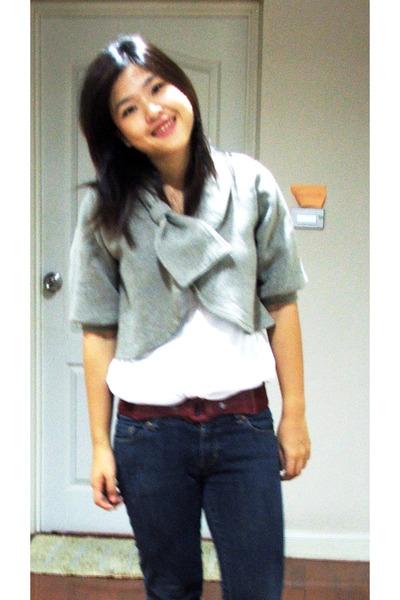 siamsquare jacket - H&M outlet top - MBK Bangkok jeans - bangkok belt