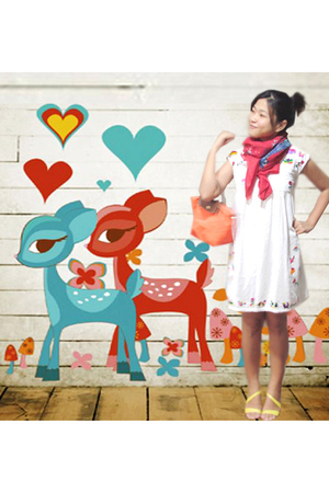 Chiangmai dress - Paris scarf - LynBangkok shoes - longchamp purse