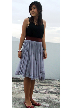 H&M outlet top - Day market belt - Platinum mall skirt - local mall shoes
