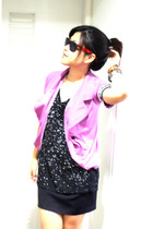 PlatinumBangkok blazer - The dude top - MBK Bangkok skirt - Paris sunglasses - b