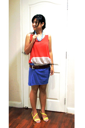 bangkok top - bangkok skirt - bangkok necklace - giordano belt - LYN shoes
