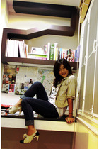 Hey Pilgrim shirt - elle jacket - MBKBangkok jeans - siamsquare shoes
