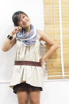 Secondhand dress - From part of my skirt scarf - siamsquare skirt - giordano bel