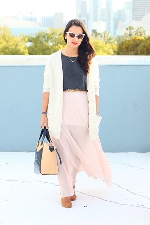 Forever 21 skirt - Payless boots - kate spade bag