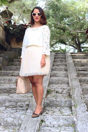 LC Lauren Conrad skirt - LC Lauren Conrad top - LC Lauren Conrad flats