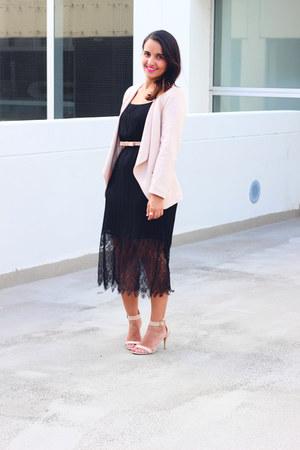 H&M blazer - Forever 21 dress - Payless sandals