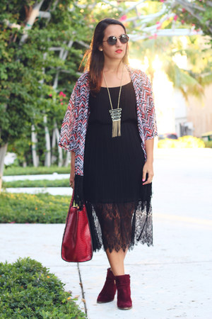 Forever 21 boots - Forever 21 dress - Wet Seal cardigan