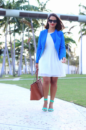 Forever 21 blazer - H&M dress - Aldo bag - Silvano Apparel sunglasses