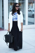 crop top Forever 21 top - H&M blazer - maxi skirt Forever 21 skirt