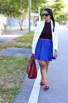 H&M blazer - JustFab bag - Forever 21 top - Forever 21 skirt