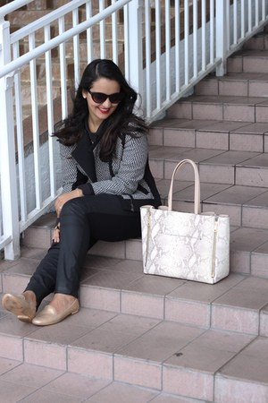 ann taylor bag - ann taylor jacket - coach loafers