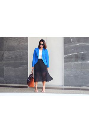 Forever 21 blazer - Forever 21 top - LC Lauren Conrad skirt