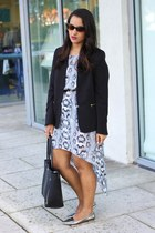 H&M dress - H&M blazer - ann taylor bag - coach flats