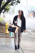 kate spade bag - Forever 21 sweater - Forever 21 pants