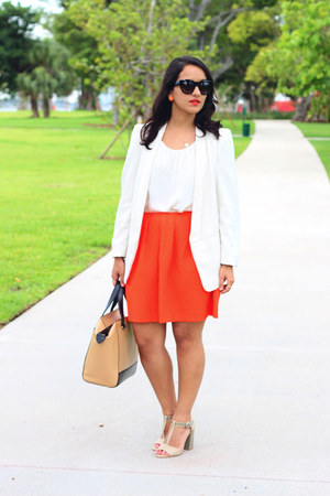 H&M blazer - kate spade bag - H&M skirt - Call it Spring sandals