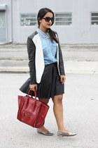 H&M blazer - Forever 21 skirt - coach flats