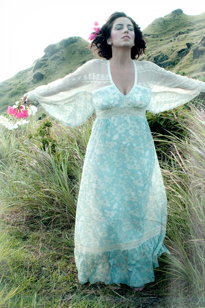 light blue lace vintage dress