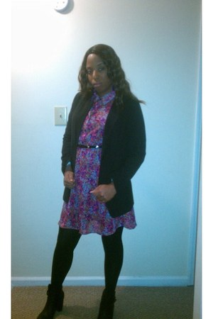 Wet Seal boots - Target dress - Forever 21 blazer