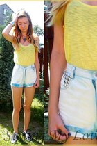 black New Age shoes - white SH shorts - yellow H&M blouse