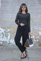black black Alexis pants - brown Celine bag