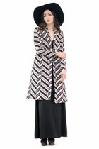black stripe coat coat