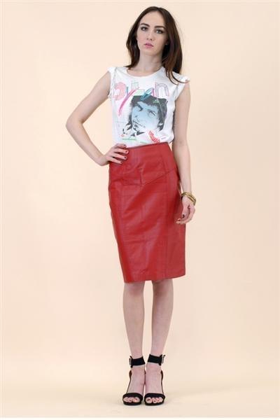 ruby red skirt