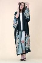 Festival Look #5 Black Dahlia Silk Kimono