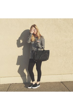 black Uniqlo leggings - black Urban Outfitters shirt - black Rebecca Minkoff bag